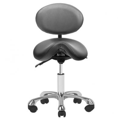 Meistara krēsls COSMETIC STOOL GIOVANNI BLACK 2