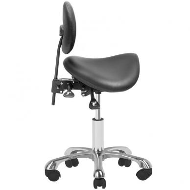 Meistro kėdutė COSMETIC STOOL GIOVANNI BLACK 3