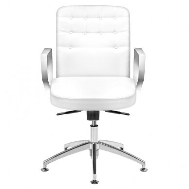 Meistara krēsls COSMETIC CHAIR RICO PEDICURE WHITE 44CM