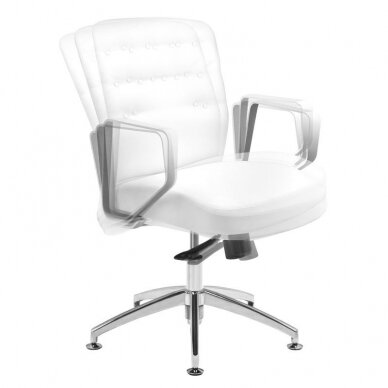 Meistara krēsls COSMETIC CHAIR RICO PEDICURE WHITE 44CM 5