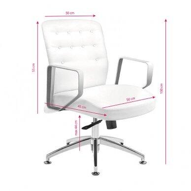 Meistara krēsls COSMETIC CHAIR RICO PEDICURE WHITE 44CM 6