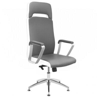 Meistro kėdutė COSMETIC CHAIR RICO PEDICURE / MAKE-UP GRAY WHITE 43CM