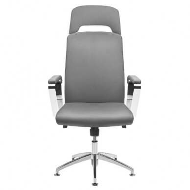 Meistara krēsls COSMETIC CHAIR RICO PEDICURE / MAKE-UP GRAY WHITE 43CM 2