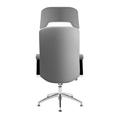 Meistara krēsls COSMETIC CHAIR RICO PEDICURE / MAKE-UP GRAY WHITE 43CM 3