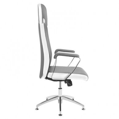 Meistara krēsls COSMETIC CHAIR RICO PEDICURE / MAKE-UP GRAY WHITE 43CM 4