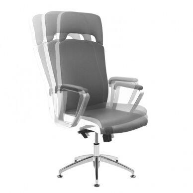 Meistara krēsls COSMETIC CHAIR RICO PEDICURE / MAKE-UP GRAY WHITE 43CM 6
