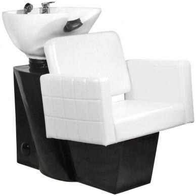Juuksuri valamu GABBIANO PROFESSIONAL HAIRWASHER CHAIR BLACK BASE WHITE SEAT