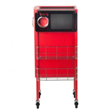 Friziera ratiņi GABBIANO HAIRDRESSER HELPER DELUXE 2 RED 10