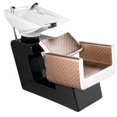 Juuksuri valamu GABBIANO PROFESSIONAL HAIRWASHER CHESS BROWN BIEGE SEAT