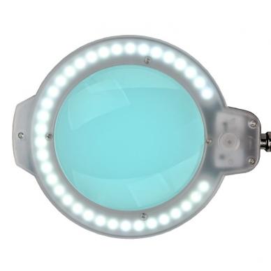 Kosmetologinė LED lempa su lupa 8W (juodos spalvos, tvirtinama prie stalo) 3