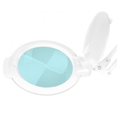 Kosmetologinė LED lempa su lupa 8W (baltos spalvos, tvirtinama prie stalo) 2