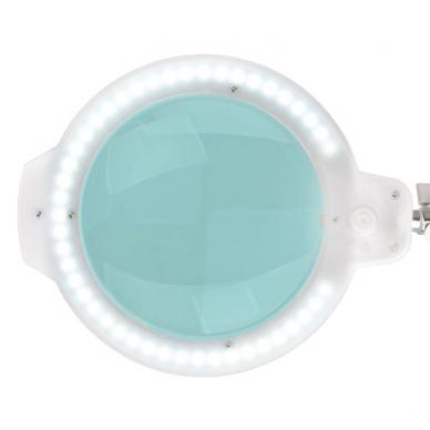 Kosmetologinė LED lempa su lupa 8W (baltos spalvos, tvirtinama prie stalo) 3