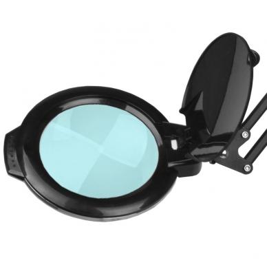 Kosmetologinė LED lempa su lupa 8W (juodos spalvos, tvirtinama prie stalo) 2