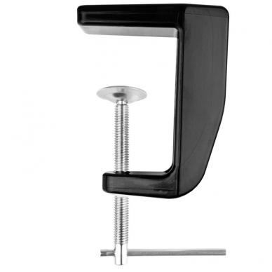 Kosmetologinė LED lempa su lupa 8W (juodos spalvos, tvirtinama prie stalo) 5