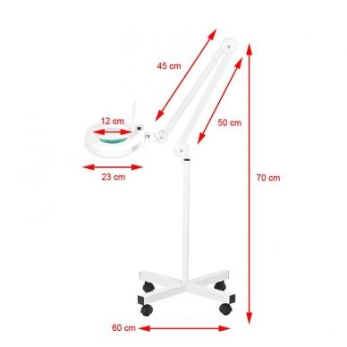 Kosmetologinė lempa LED su lupa 12W (pastatoma ant grindų) 6