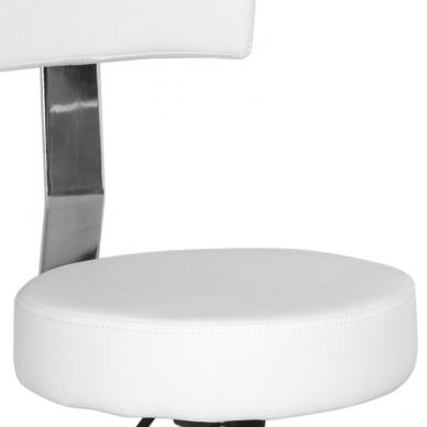 Meistro kėdutė STOOL BEAUTY BACKREST WHITE 4
