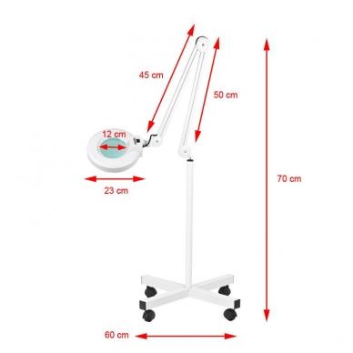 Kosmetologinė lempa su lupa 5D 22W (pastatoma ant grindų) 5