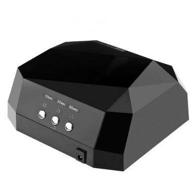 UV/LED/CCFL nagų lempa 36W DIAMOND SENSOR BLACK 2