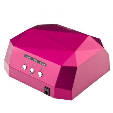 UV/LED/CCFL nagų lempa 36W DIAMOND SENSOR DARK PINK 2