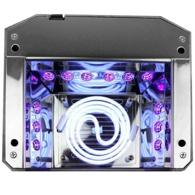 UV/LED/CCFL manikīra lampa 36W DIAMOND SENSOR DARK PINK 3