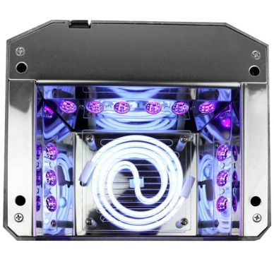 UV/LED/CCFL nagų lempa 36W DIAMOND SENSOR DARK PINK 3