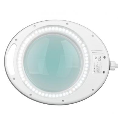Kosmetologinė lempa LED su lupa 8W (pastatoma ant grindų, su ratukais) 6
