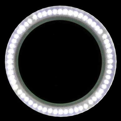 Kosmetologinė lempa LED su lupa 8W (pastatoma ant grindų, su ratukais) 7