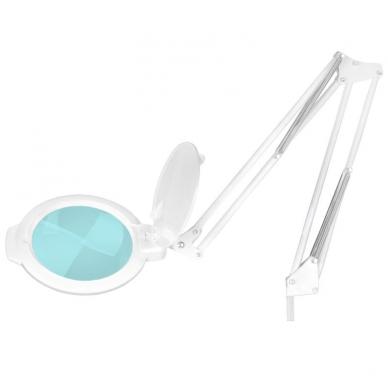 Kosmetologinė lempa LED su lupa 10W (pastatoma ant grindų, su ratukais) 2