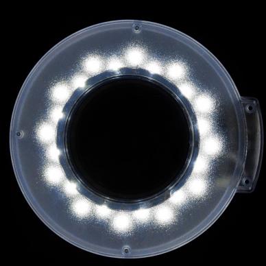 Kosmetologinė lempa LED su lupa ir stovu 12W (pastatoma ant grindų) 3