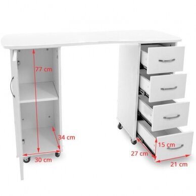 Manikiūro stalas CABINETS WHITE 5