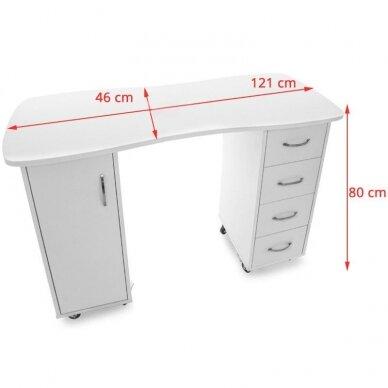 Manikiūro stalas CABINETS WHITE 6