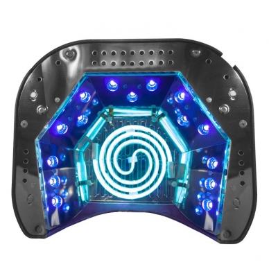 UV/LED/CCFL nagų lempa 48W PROFESSIONAL SENSOR BLACK 3