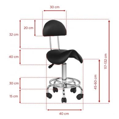 Meistara krēsls STOOL BEAUTY 3 BLACK 5