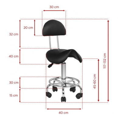 Tool meistri jaoks STOOL BEAUTY 3 BLACK 5