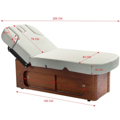 Elektrinis masažo stalas AZZURRO SPA WOOD 7