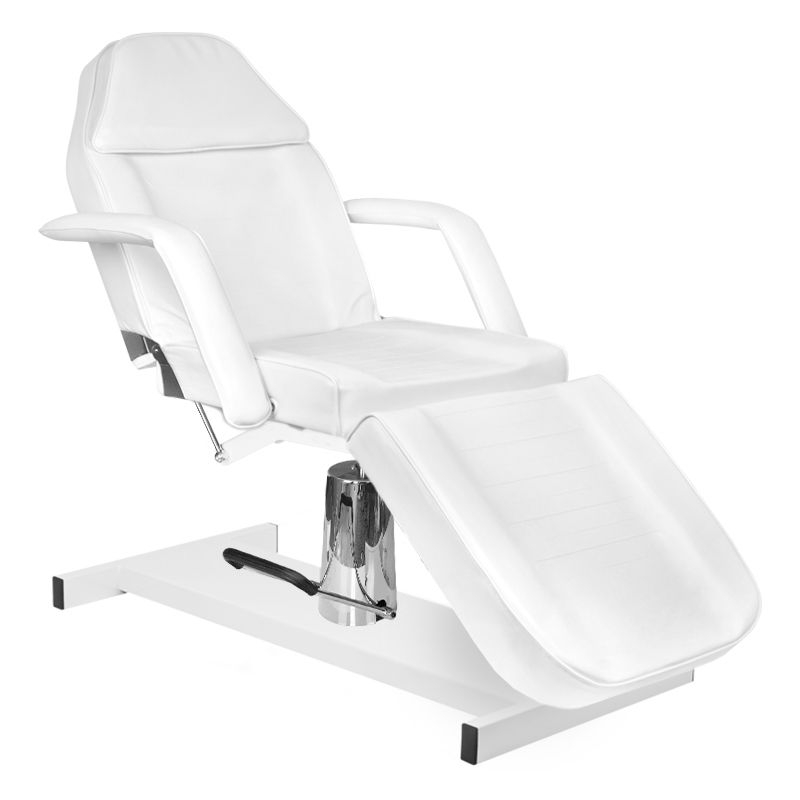 Kosmetologinis krėslas HYDRAULIC BASIC WHITE