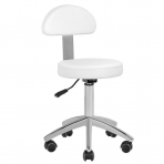 Meistro kėdutė STOOL BEAUTY BACKREST ROUND 2 WHITE