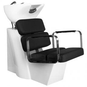 Kirpyklos plautuvė GABBIANO PROFESSIONAL HAIRWASHER MULTIPLA BLACK SEAT