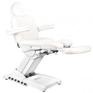 Kosmētikas krēsls AZZURRO PEDI PRO EXCLUSIVE 3 POWER WHITE