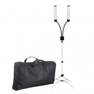 Kosmetologinė lempa LED su lupa ir stovu 28W