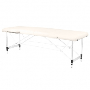 Saliekamais masāžas galds ALU COMFORT 2 CREAM