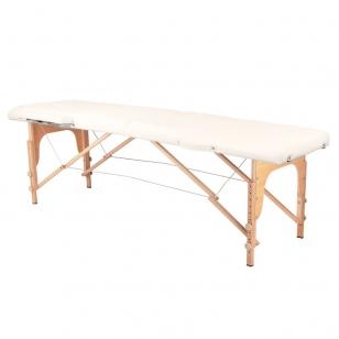 Saliekamais masāžas galds WOOD COMFORT 2 CREAM