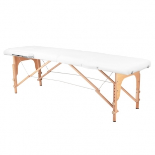 Saliekamais masāžas galds WOOD COMFORT 2 WHITE