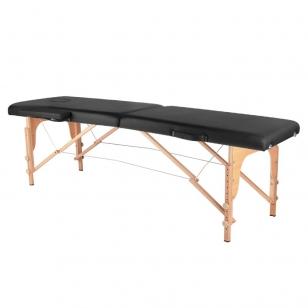 Saliekamais masāžas galds WOOD COMFORT 2 BLACK