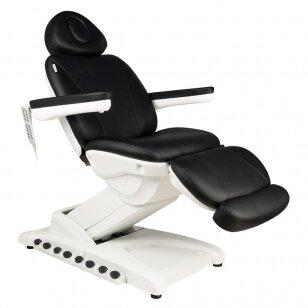 Kosmētikas krēsls AZZURRO EXCLUSIVE 4 MOTOR HEATED BLACK