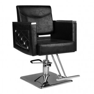 Frizieru krēsls HAIRDRESSING CHAIR 08 BLACK
