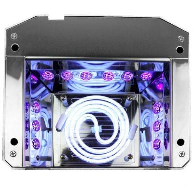 UV/LED/CCFL nagų lempa 36W DIAMOND SENSOR PINK 3
