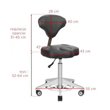 Meistara krēsls AZZURRO BUMP-UP WHITE 4