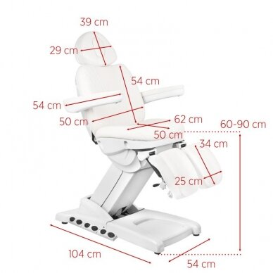 Kosmētikas krēsls AZZURRO PEDI PRO EXCLUSIVE 3 POWER WHITE 11