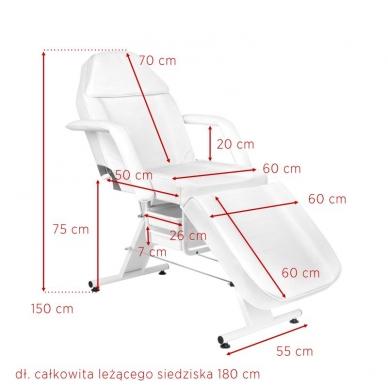 Kosmetologinis krėslas BASIC WHITE 7